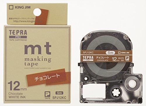 キングジム テープカートリッジ テプラPRO マスキングテープ mt SPJ12KC チョコレート,テプラ,