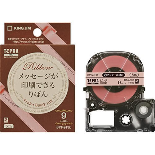 キングジムテープカートリッジ テプラPRO りぼん 9mm ピンク SFR9PK,テプラ,