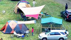 オートテントサイト,緑の休暇村青根キャンプ場,