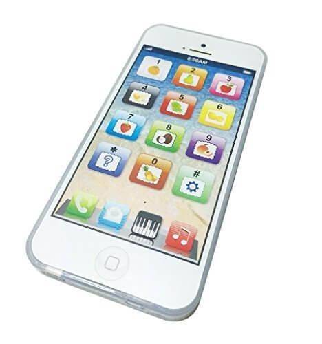 KUENTAI おもちゃ iPhone型 音が鳴る 光る スマホ スマートフォン キッズ 子供 赤ちゃん USB 充電 (ホワイト(USBケーブル無し)),おもちゃ,スマホ,
