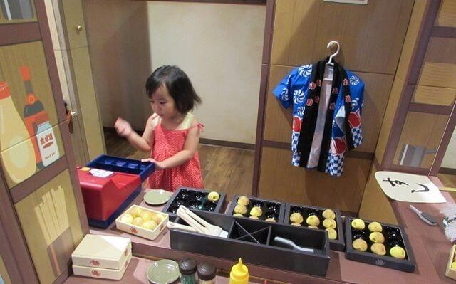 東京こども区こどもの湯のたこ焼き屋さんコーナー,おでかけ,子ども,室内施設