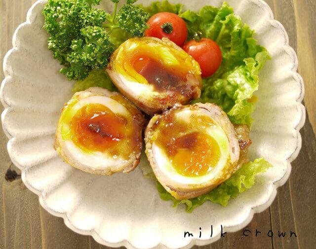 卵の豚バラ巻き☆お弁当にも,お弁当,卵,レシピ