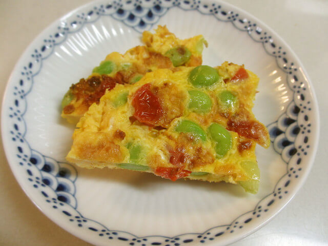 枝豆とトマトのフリッタータ お弁当 簡単,お弁当,卵,レシピ