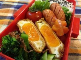 簡単お弁当にも♪油揚げに卵ポン♪の甘辛焼,お弁当,卵,レシピ