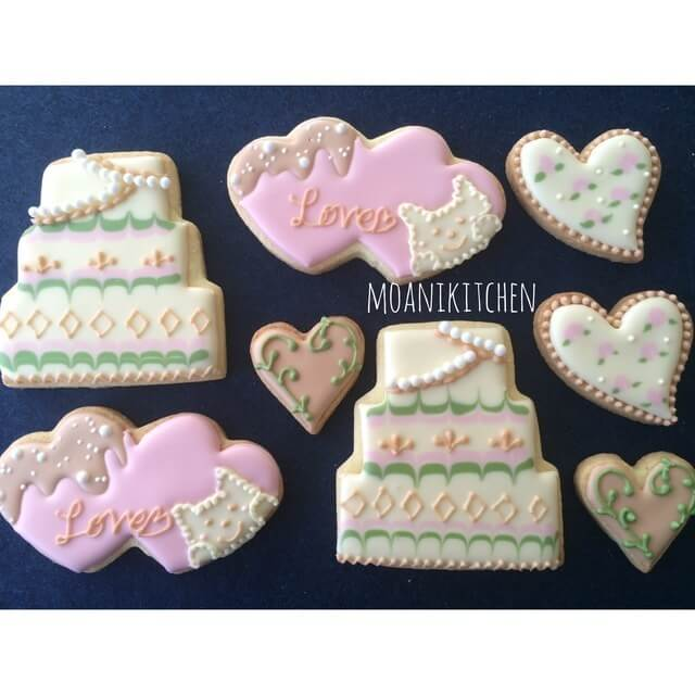 バレンタインのアイシングクッキー,アイシングクッキー,プレゼント,デザイン