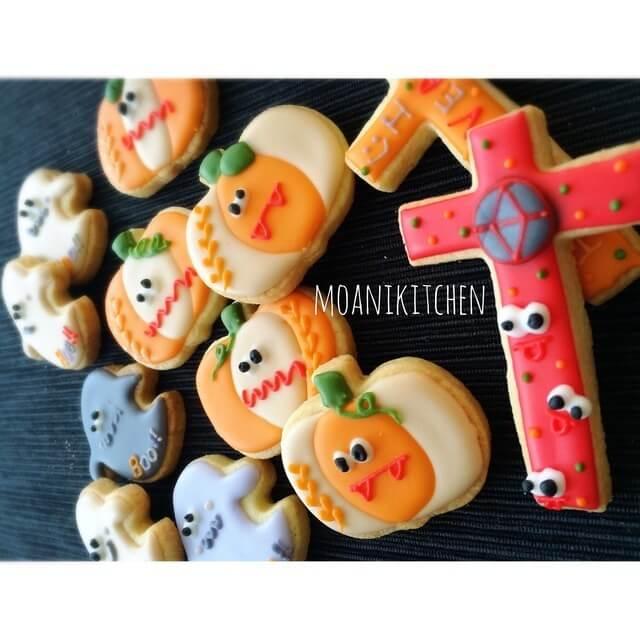 ハロウィンのアイシングクッキー,アイシングクッキー,プレゼント,デザイン