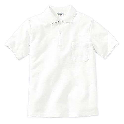 ASHBERRY (アッシュベリー) 鹿の子半袖ポロシャツ(白)/男女兼用/ 110cmオフホワイト,キッズ,ポロシャツ,