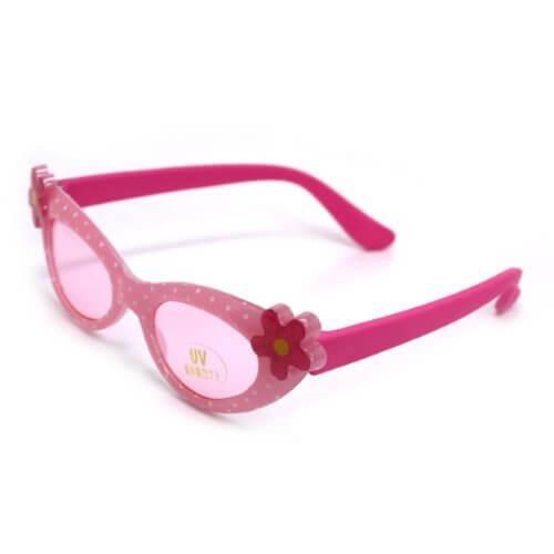 キッズサングラス UV紫外線カット(ピンクドット)【C08-Z22】,キッズ,サングラス,