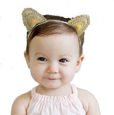 macaroni(マカロニ)ベビー用ネコ耳ヘアバンド 誕生日、記念日、ベビーアートに,ベビー,カチューシャ,