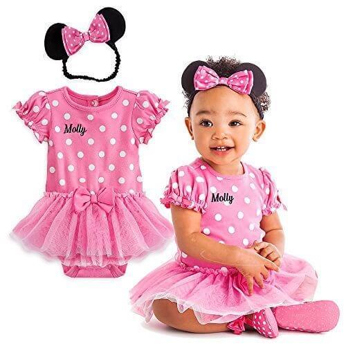 Disney(ディズニー) ミニーマウス コスチューム ボディースーツ ドレス ヘアバンド付き ベビー 女の子 出産祝い ピンク 3-6M 55cm 60cm 65cm [並行輸入品],ベビー,カチューシャ,