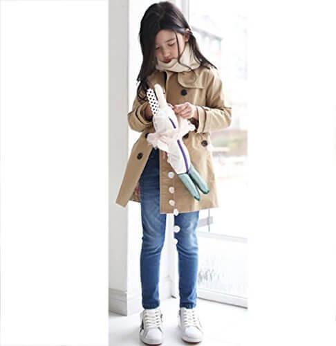 kiyomi 子供 トレンチコート 女の子 ジャケッ 春 秋 キッズ コート 子供服 100 110 120 グレー カーキ,キッズ,トレンチコート,