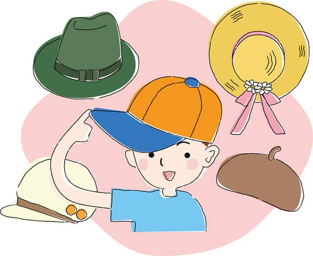 様々な種類の帽子(イラスト),キッズ,子供,帽子