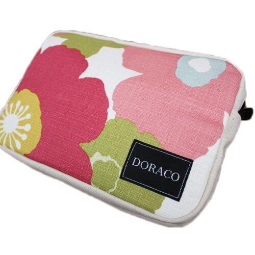 DORACOおむつポーチ オムツポーチにもOKな大きさのクラッチバッグ!(フラワー/ピンク),おむつポーチ,かわいい,おしゃれ