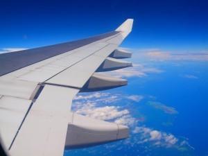 飛行機のウイング,子連れ,旅行,海外
