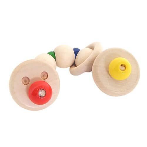 シャーフ社 ドイツ製 木のおもちゃ おしゃぶり 歯がため ハロー,出産祝い,木のおもちゃ,