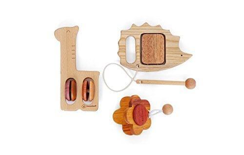 木のおもちゃSoopsori(スプソリ) 赤ちゃん幼児楽器おもちゃ3個セット,出産祝い,木のおもちゃ,