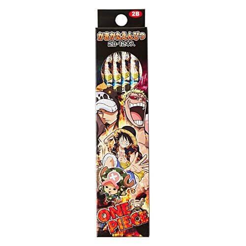 ショウワノート ワンピース かきかた鉛筆2B 紙箱 698633016,ワンピース,魅力,ONE PIECE