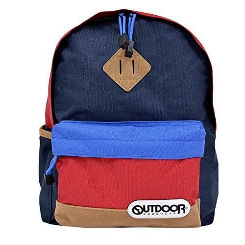 (アウトドアプロダクツ) OUTDOOR PRODUCTS キッズ リュック OUT0172 カラフル リュックサック レディース メンズ 通学 遠足 RED/NAVY,通園バッグ,