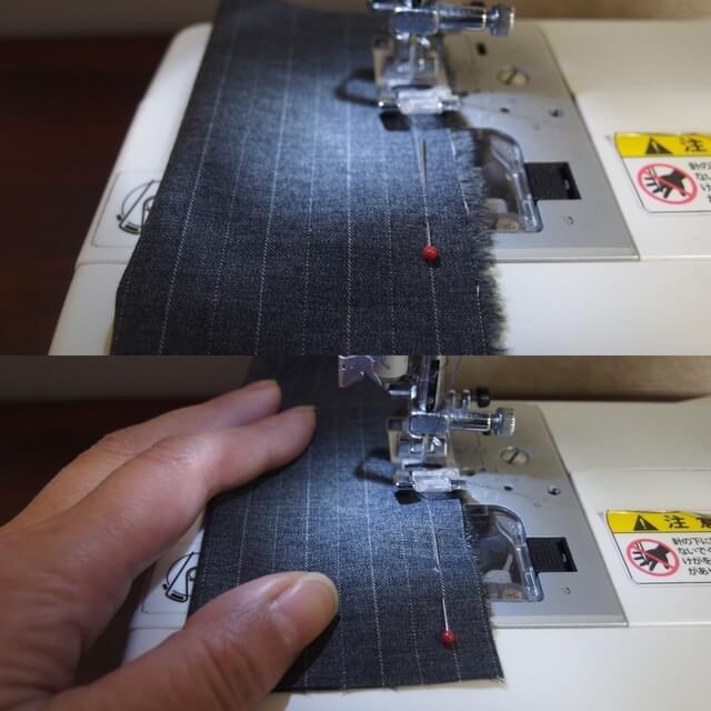 縫い始めと縫い終わりです,シュシュ,手作り,