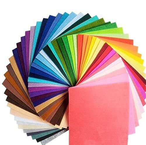 ママの 愛情いっぱい ハンドメイド 品 カラー フェルト DIY 1.0 mm 40色 30cm x 30cm,シュシュ,手作り,