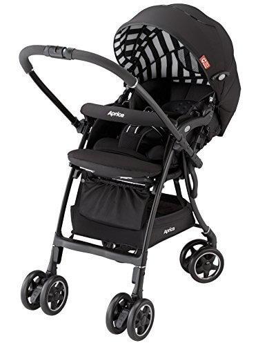 アップリカ ハイシートベビーカー Carry Travel System ラクーナAD ヒューゴブラック BK 【CTS対応品】(オート4輪機能 & 洗えるリバーシブルシート付) 92972,ベビーカー,選び方,