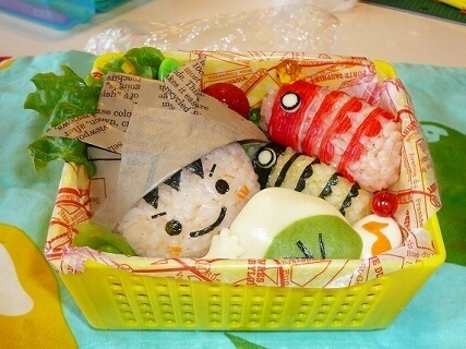 兜の男の子と鯉のぼりのお弁当,キャラ弁,作り方,
