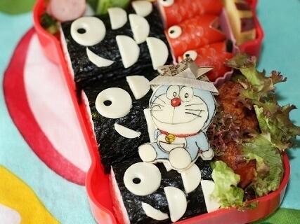 黒鯉のぼりの海苔巻,キャラ弁,作り方,