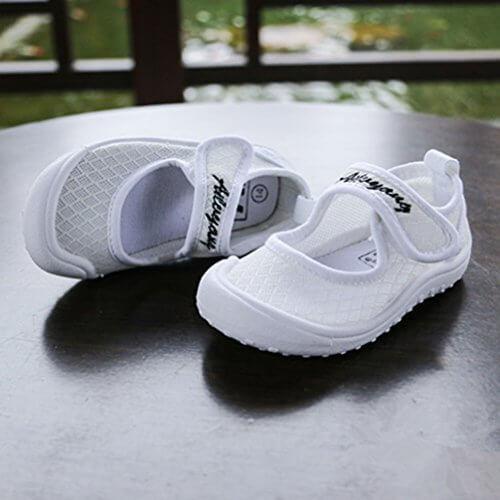 上履き 校内履き 柔らかいニット子供靴 ホワイト13.0cm,幼稚園,上履き,