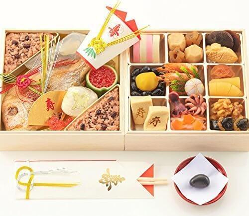 お食い初め豪華二段セット 日本橋正直屋 和食伝統料理の老舗 これ一つでお食い初めの儀式が出来ます,お食い初め,食材,