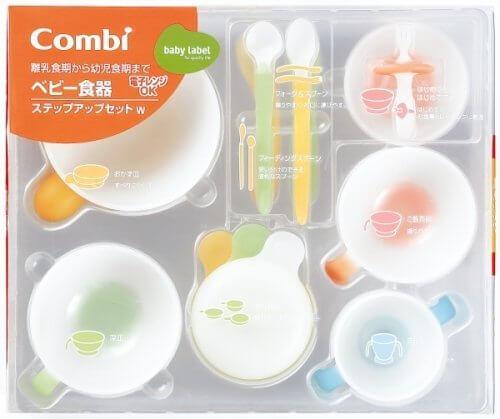 コンビ ベビーレーベル ベビー食器 ステップアップセット W,離乳食,食器,