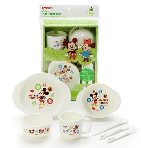 ピジョン ベビー食器セット ミッキー&フレンズ D1,離乳食,食器,