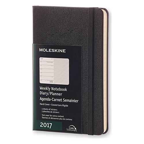 モレスキン 手帳 2017 ウィークリー ハードカバー ポケット ブラック DHB12WN2Y17,手作り,手帳,