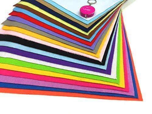 【CPGS】 カラフル フェルト 22色 セット 30cm x 30cm 1.4mm厚 手芸 カラー,手作り,手帳,