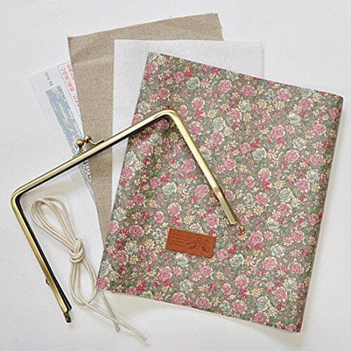 手帳ケースキット  YUWA 小花柄 型紙、作り方のレシピ付き 手作り (フロスティグレー),手作り,手帳,