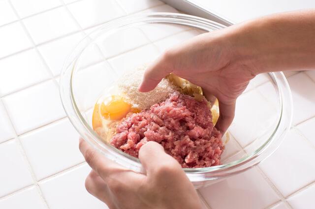 肉料理の下ごしらえ,お弁当,ハンバーグ,