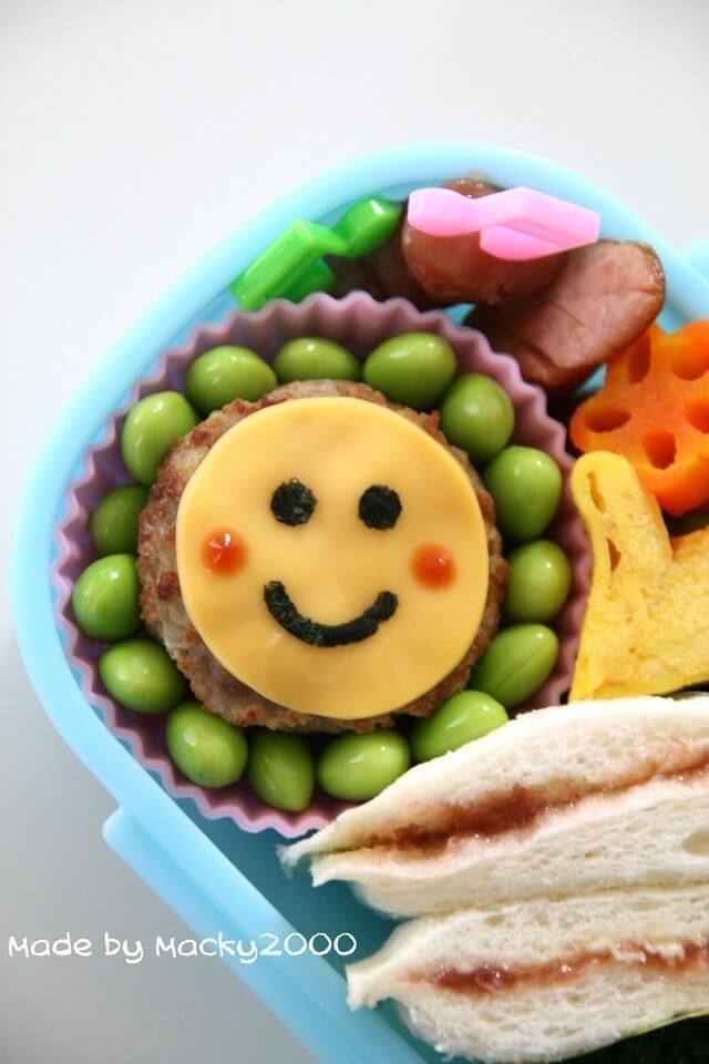お弁当カワイイおかず☆チーズハンバーグ♪,お弁当,ハンバーグ,