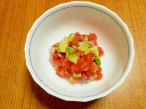 【離乳食】トマトとアボカドのしらすサラダ,離乳食,アボカド,