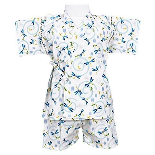 アスナロ(甚平) 甚平 子供 男児 国産生地 綿100% じんべい トンボ柄80 アイボリー,子供用,甚平,