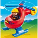 プレイモービル 1.2.3 救急ヘリコプター ごっこ遊び 1歳 2歳 3歳 赤ちゃん ベビー 誕生日プレゼント 誕生日 男の子 男 女の子 女 出産祝い 0113_flash,ヘリコプター,おもちゃ,