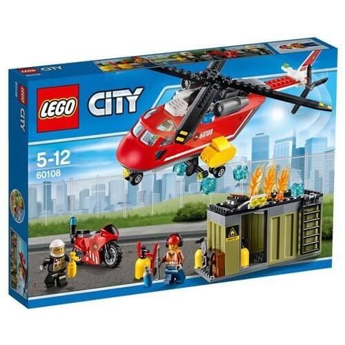 レゴ (LEGO) シティ 消防ヘリコプター 60108,ヘリコプター,おもちゃ,