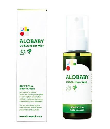 ALOBABY アロベビー UV&アウトドアミスト 80ml,子供用,日焼け止め,