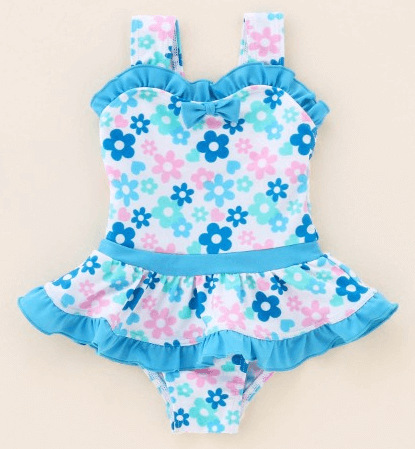 【ベビー】女の子花柄ワンピース水着,キッズ,水着,女の子