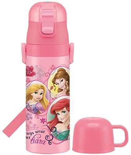 2WAY ステンレスボトル 水筒 コップ付 470ml プリンセス 17 ディズニー SKDC4,ステンレス水筒,キッズ,