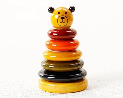 100%自然塗料を使ったやさしさあふれるおもちゃ マヤ・オーガニック 木の積み木 CUBBY(カビー),積み木,