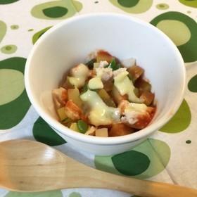 【離乳食後期】ズッキーニと豆腐のクリームスープ,ズッキーニ,レシピ,簡単
