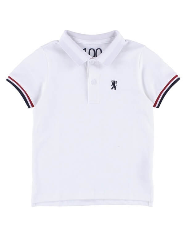 KIDSチビライオン刺繍ポロシャツ,GIORDANO,ポロシャツ,