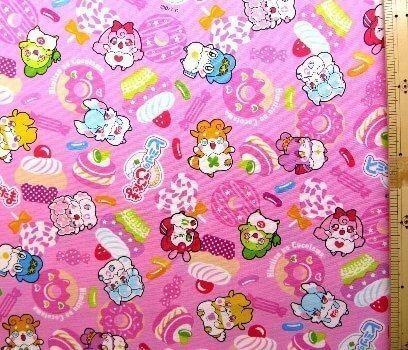 キャラクター生地・ヒミツのここたま(ピンク)#2,キャラクター,生地,
