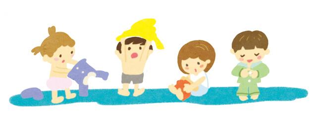 子どもの着替え,幼稚園,入園,準備