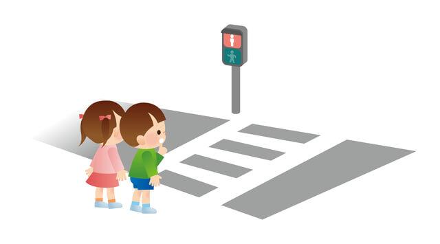 横断歩道で待つ子ども,幼稚園,入園,準備