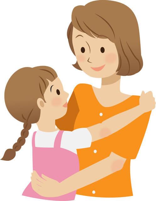 子どもの話を聞くママ,幼稚園,入園,準備
